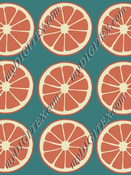 Citrus slices, oranges, grapefruit fruit pattern