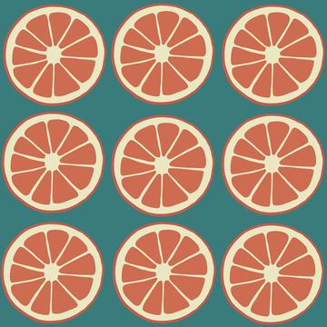Citrus slices, oranges, grapefruit fruit pattern