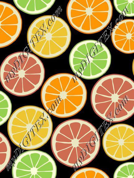 Citrus slices colorful fruit