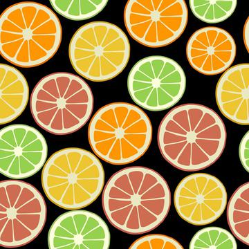 Citrus slices colorful fruit