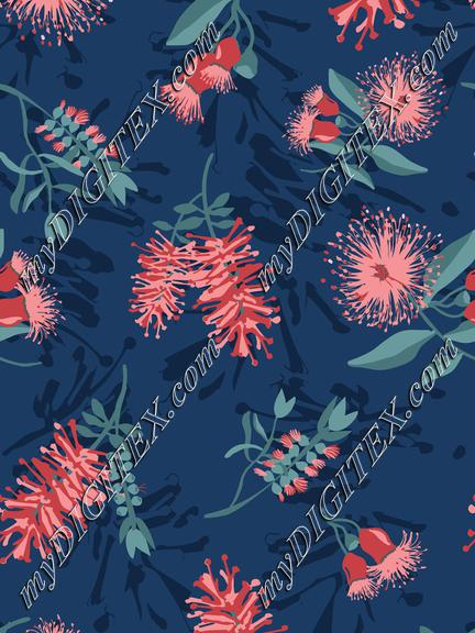 Australian-Native-Flowers-Navy