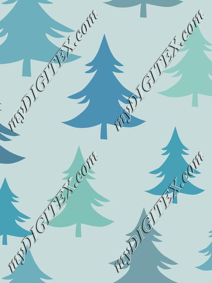 Christmas Trees Fir Trees Winter Forest