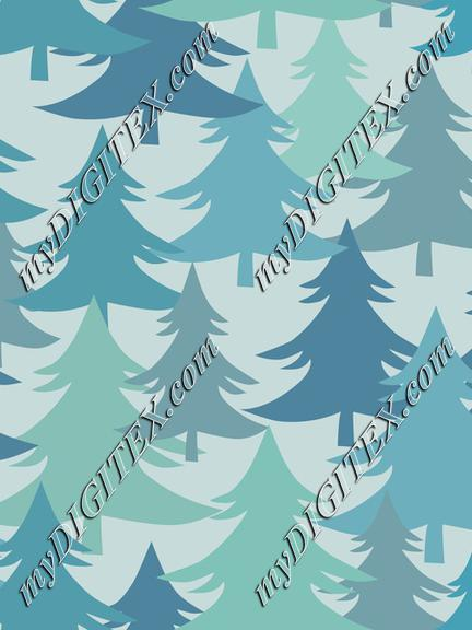 Christmas Trees Fir Trees Winter Forest On Light
