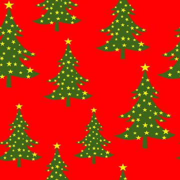 Christmas Tree with Stars Traditional