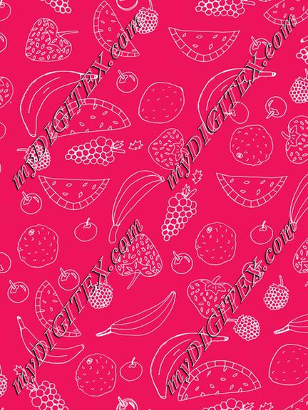 Fun Fruit in Pink