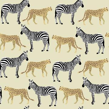 Safari Animals Zebra and Cheetah