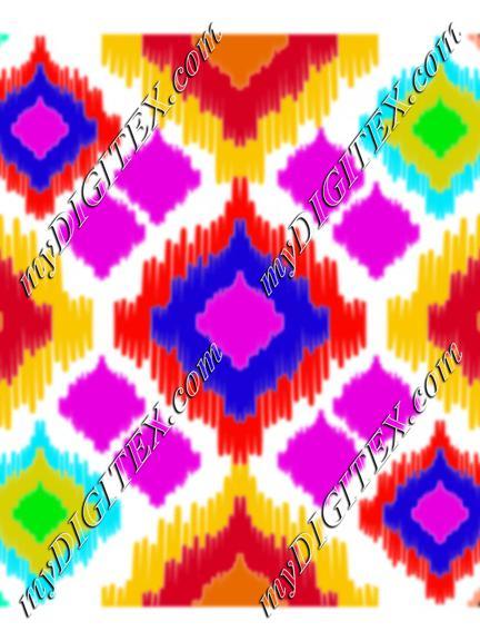 colorful ikkat pattern