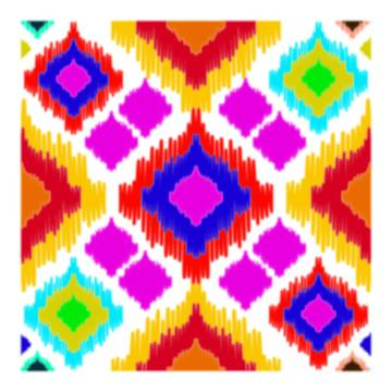 colorful ikkat pattern