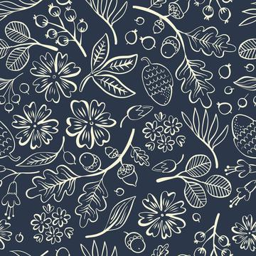 Navy forest floral-01
