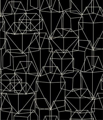 Geometric Village Black