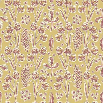 Scribbly plants symmetric ochre-01