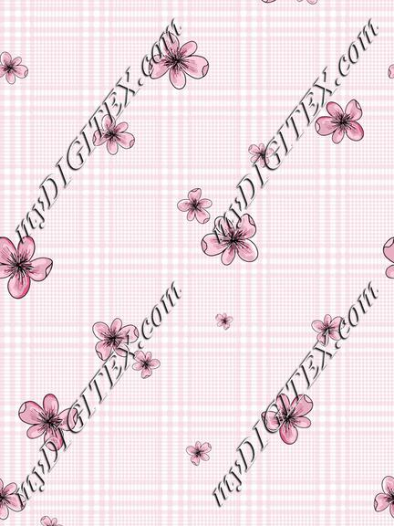 Pink-Floral-Plaid