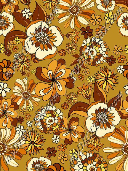 Retro Flowers 70s