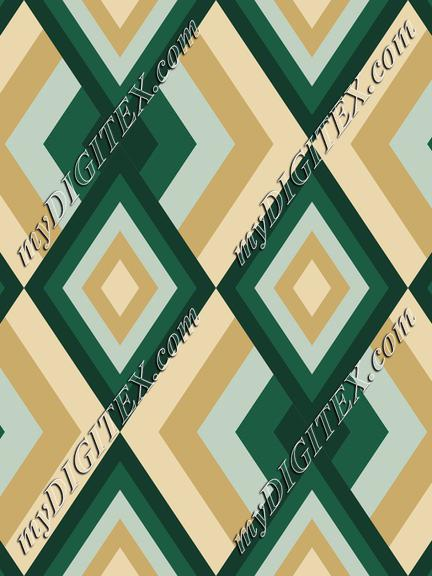 Abstract Geometric Pattern with Deep Green