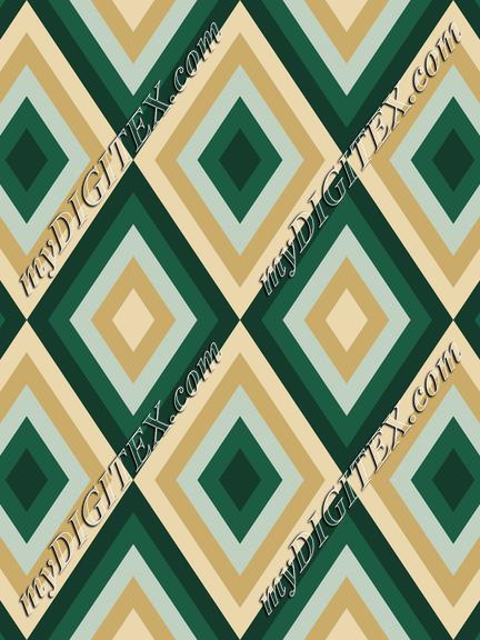 Geometric Abstract Pattern, with Deep Green
