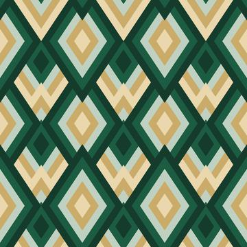 Abstract Geometric Pattern in Natural Green Colors