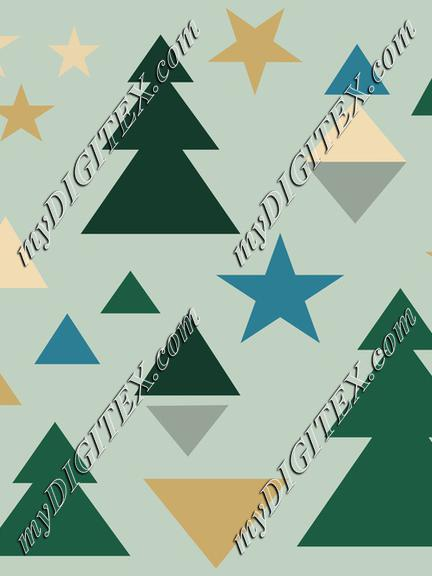 Abstract Geometric Winter Pattern
