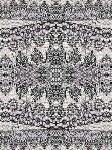Ethnic decorative delicate lace art