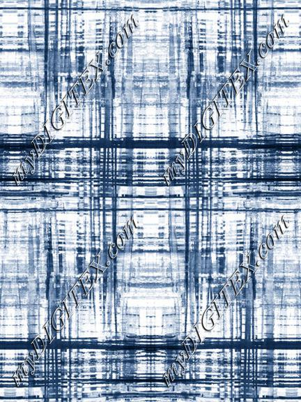 Light indigo blue shibori tie dye tartan