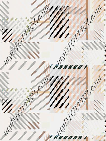 Minimal modern stripes and squares pattern