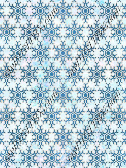 Metallic geometric snowflake Christmas pattern
