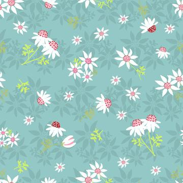 Flannel-Flowers-Green