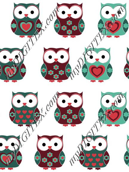 Cute Christmas Owls