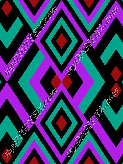 Abstract Geometric Retro 70s pattern