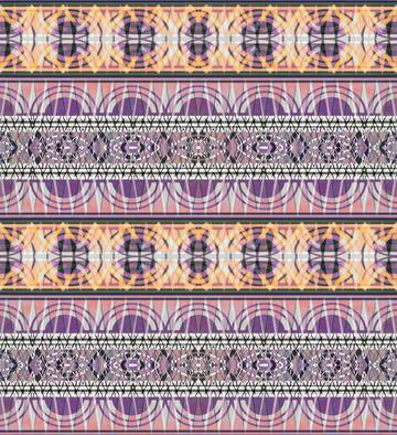 Yellow pink tribal geometric pattern