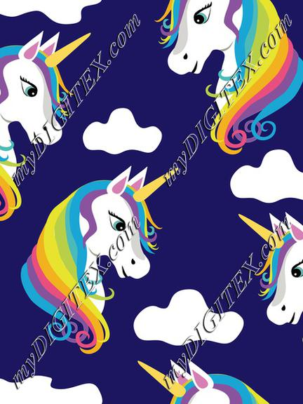 Uniorns Magic Rainbow on Blue