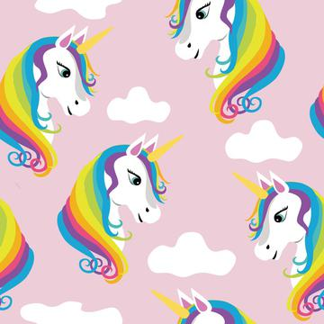 Unicorns Rainbow Pink