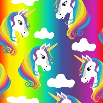 Rainbow Unicorns on Rainbow