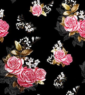rose blossom_black