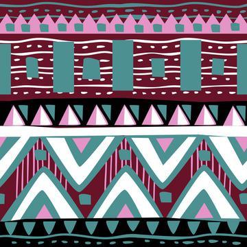 Watercolor Succulents (Tribal Texture 1)