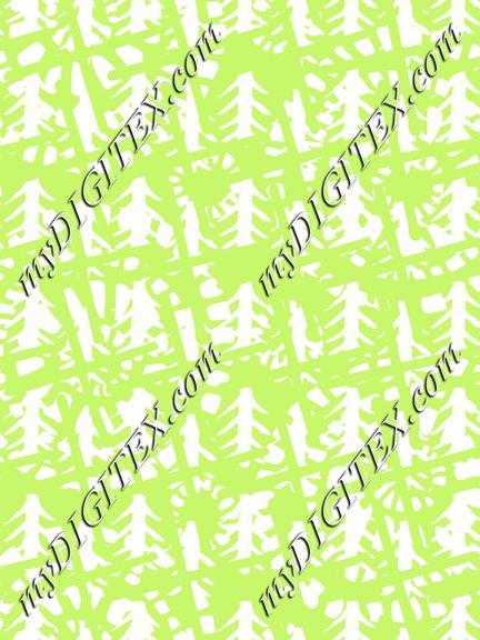 Modern Batik Lime Green