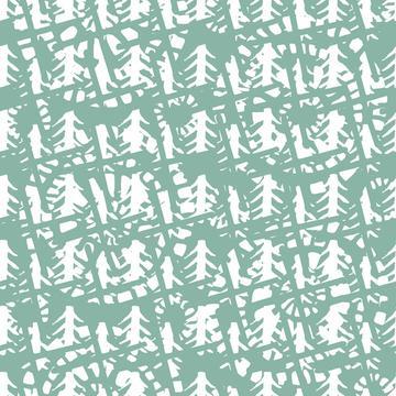 modern Batik Green