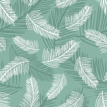 Palm Leaves Green Back