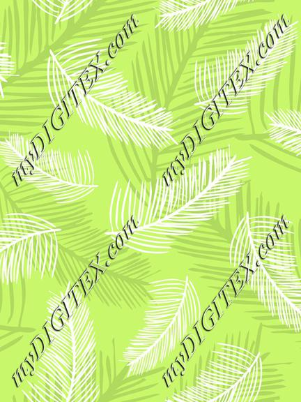 Palm Leaves Lime Green Back