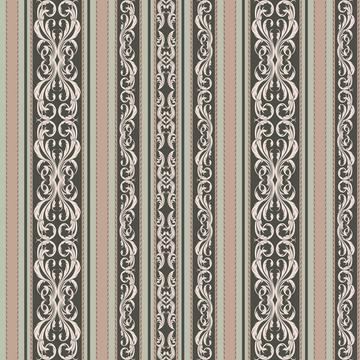 Antique Bouquet Damask Stripes