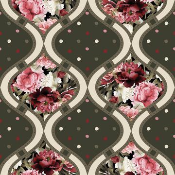 Watercolor Bouquet Pattern 1