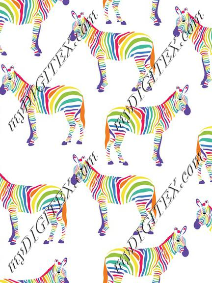 Zebra Rainbow, Rainbow Zebra Safari Animals