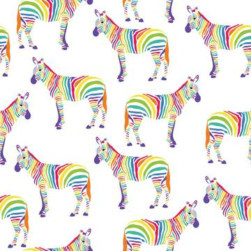 Zebra Rainbow, Rainbow Zebra Safari Animals