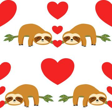 Sloth Love, Cute Sloths Valentin's day