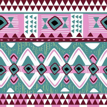 Watercolor Succulents (Tribal Texture 2)