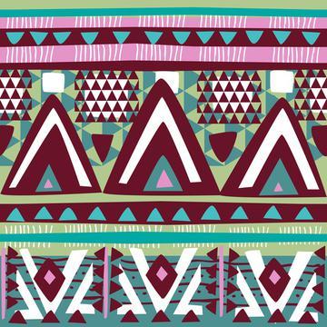 Watercolor Succulents (Tribal Texture 3)