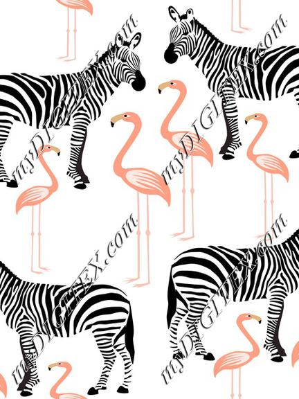 Flamingoes and Zebras