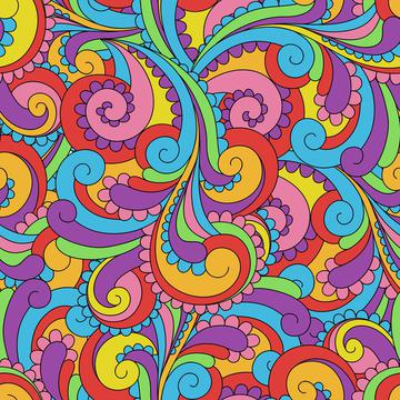 Hippie Love Mod Swirls