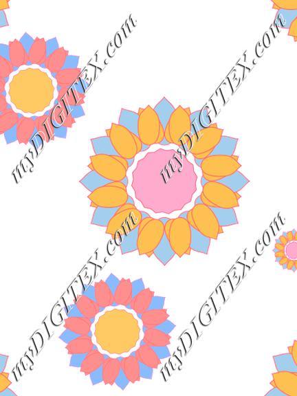 Garden sun flower blue