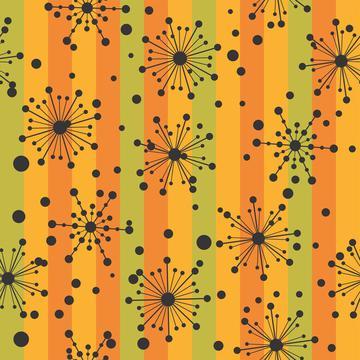 Retro Mod 2 Atomic Stripes