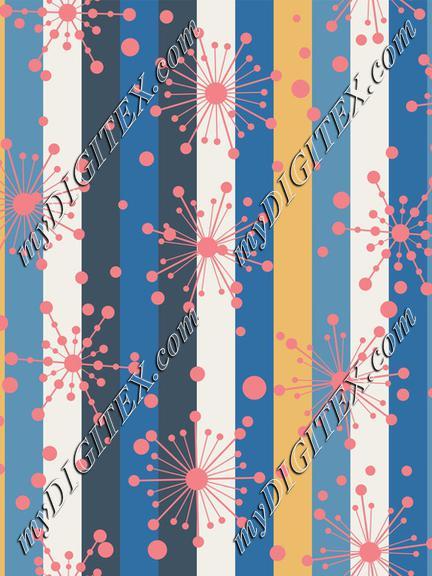 Diner Blues Atomic Stripes